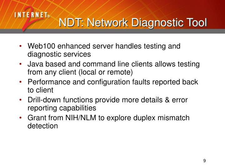 NDT: Network Diagnostic Tool