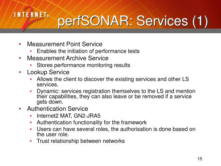 perfSONAR: Services (1)