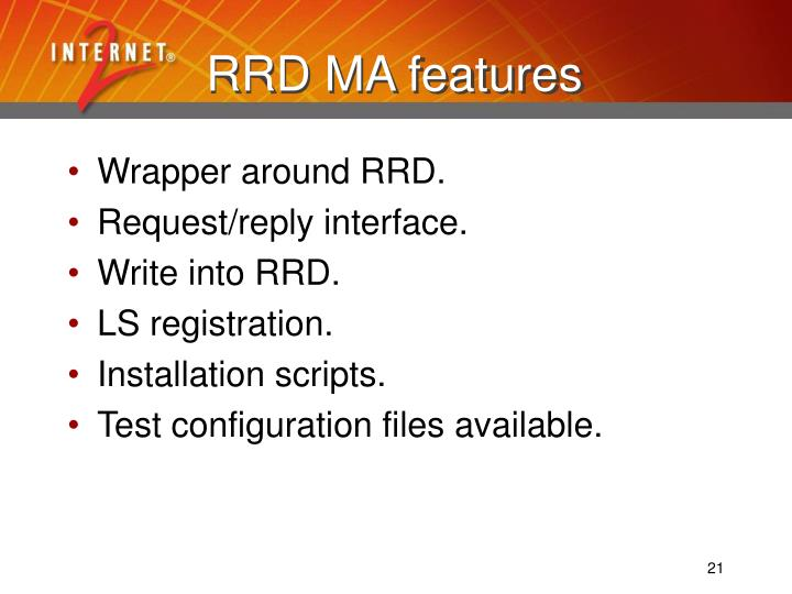 RRD MA features