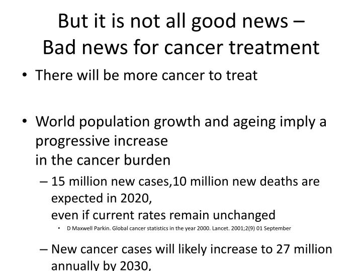But it is not all good news –