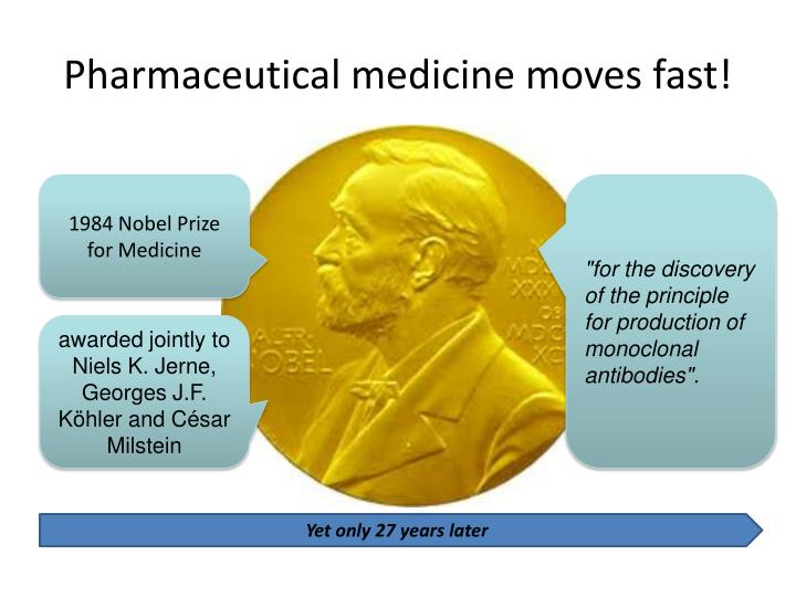 Pharmaceutical medicine moves fast!