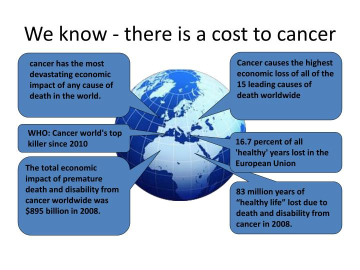 We know - there is a cost to cancer
