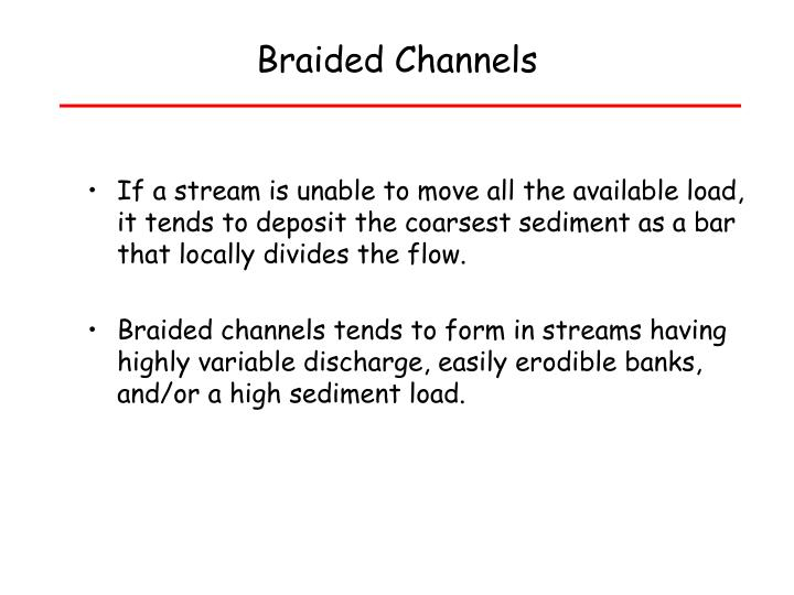 PPT - Alluvial Rivers Erodible channel boundaries ...