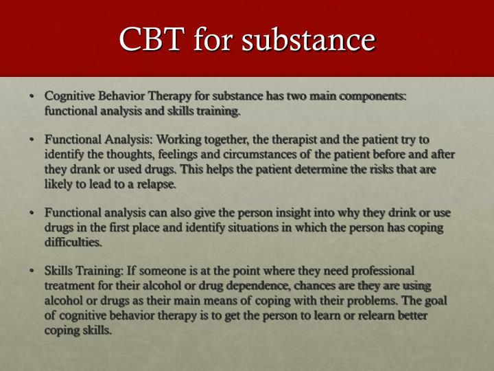CBT for substance
