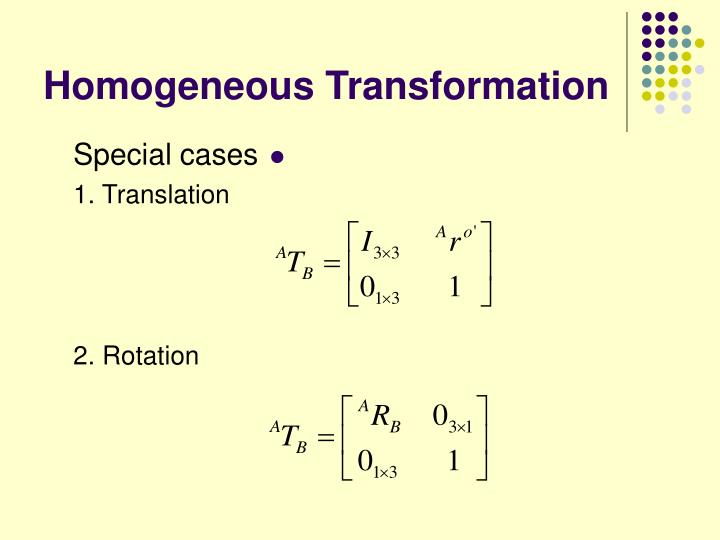 Homogeneous Transformation