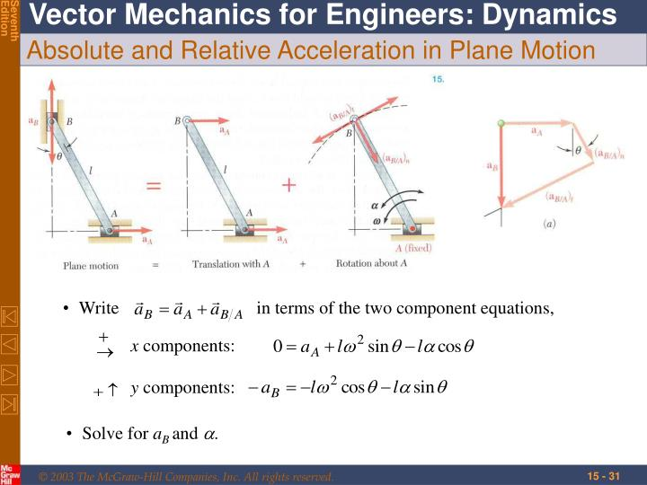 Writein terms of the two component equations,