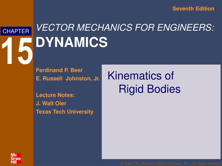 Kinematics of