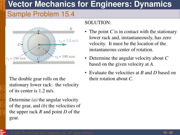 Sample Problem 15.4