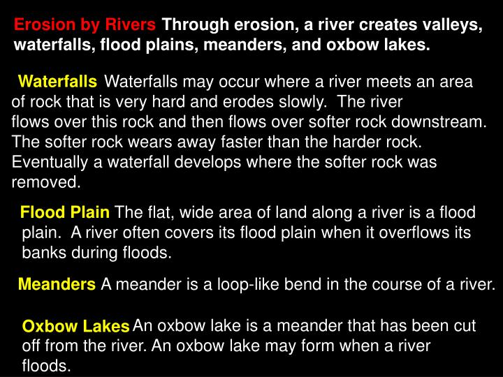Erosion by Rivers