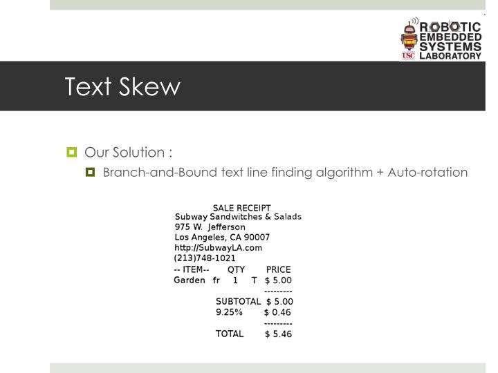 Text Skew