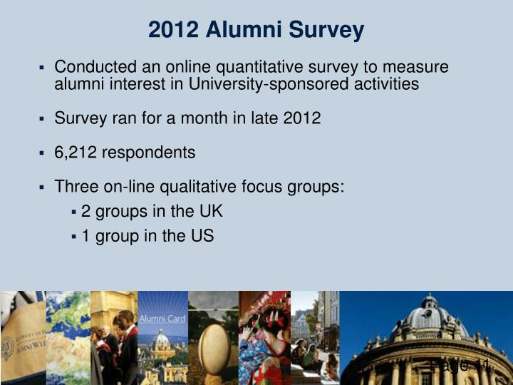 2012 Alumni Survey