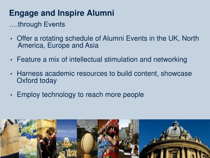 Engage and Inspire Alumni