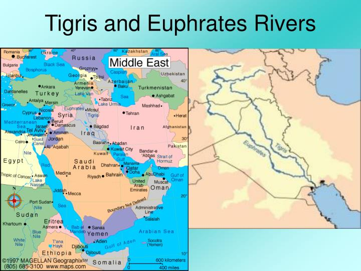 tigris and euphrates river valley This ecoregion represents the lower tigris-euphrates river system it is bounded by the zagros mountains to the east, the persian gulf to the south, the deserts of arabia and syria to the west, and the turkish highlands to the north.