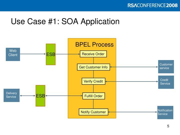 Use Case #1: SOA Application