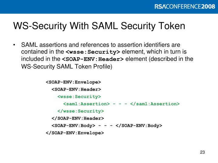 WS-Security With SAML Security Token