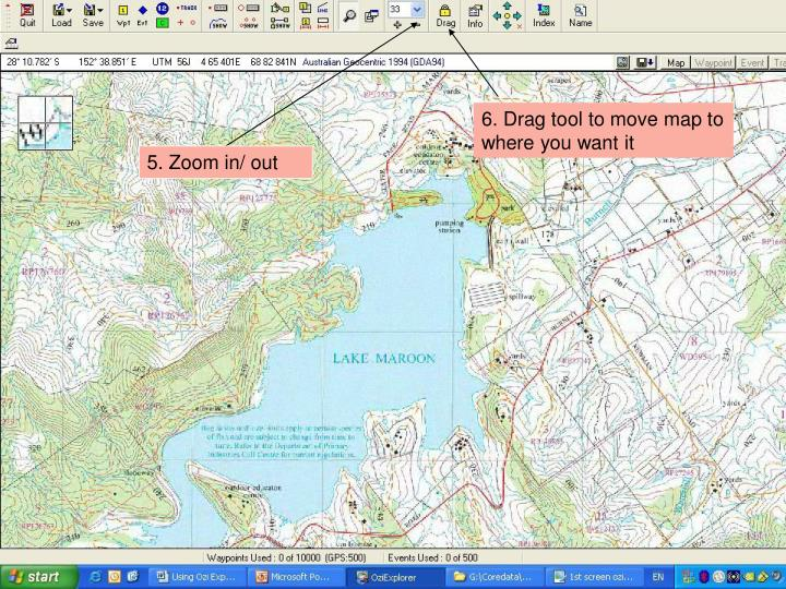6. Drag tool to move map to where you want it