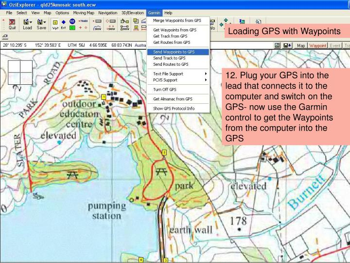 Loading GPS with Waypoints