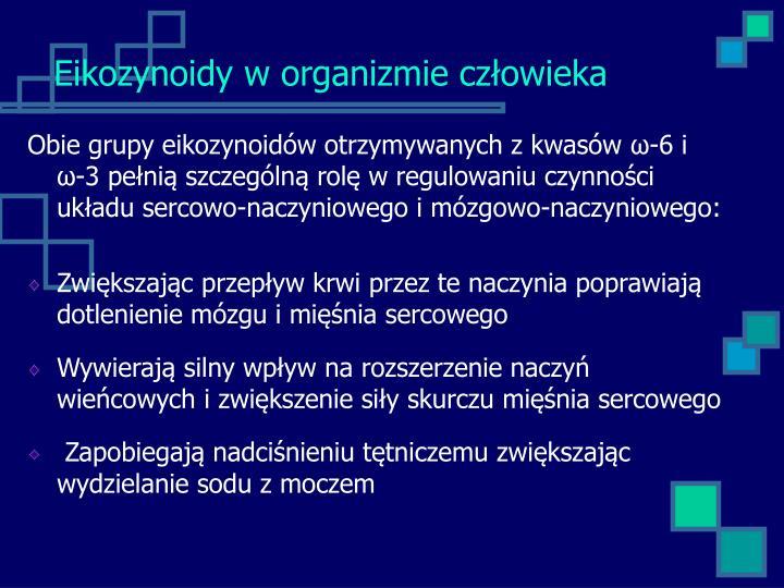 Eikozynoidy w organizmie człowieka