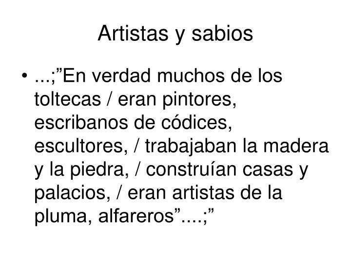 Artistas y sabios