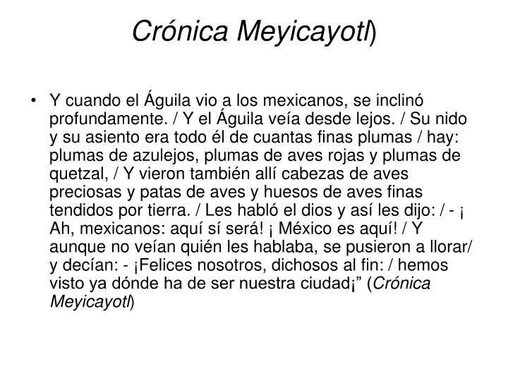 Crónica Meyicayotl