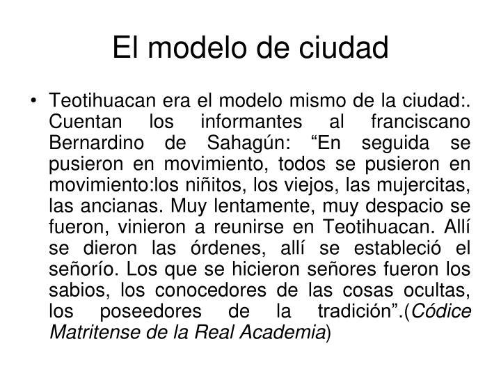 El modelo de ciudad