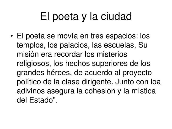 El poeta y la ciudad