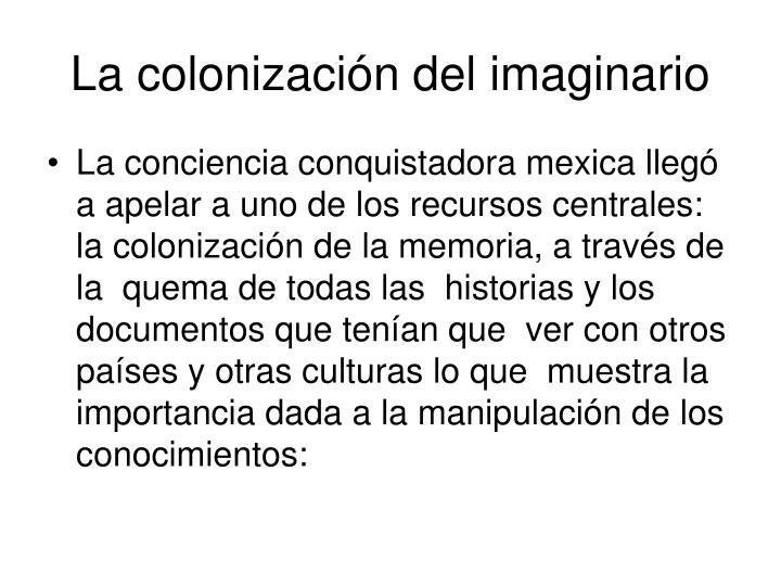 La colonización del imaginario
