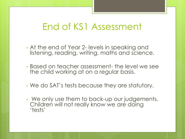 End of KS1 Assessment