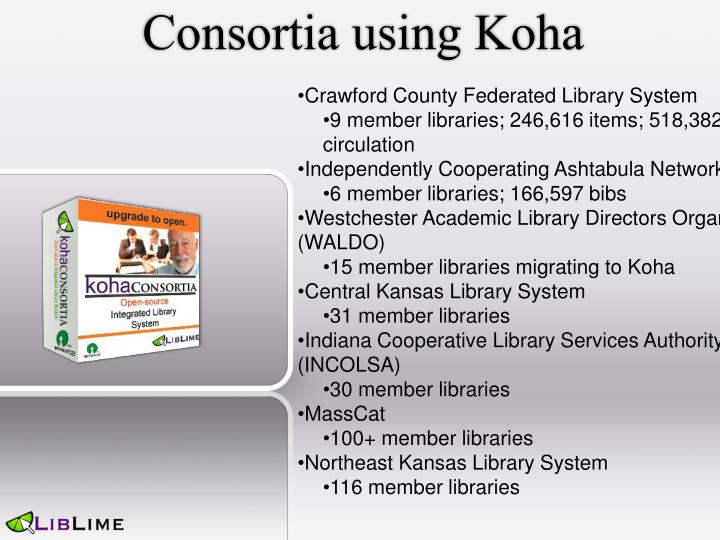 Consortia using Koha