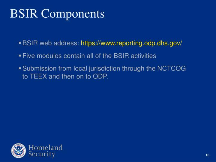 BSIR web address: