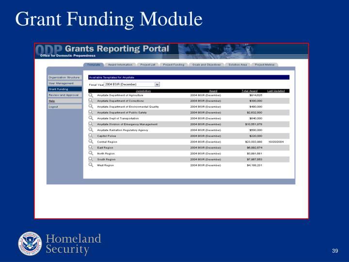 Grant Funding Module
