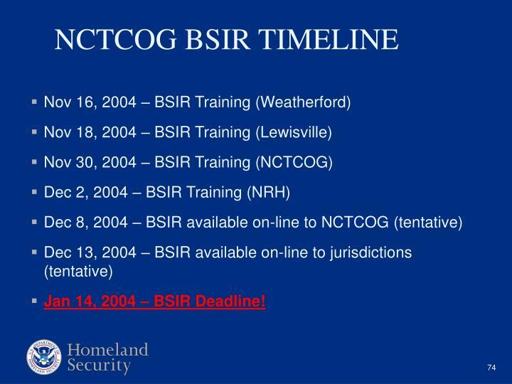 Nov 16, 2004 – BSIR Training (Weatherford)