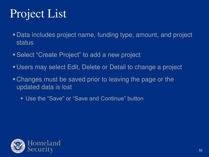 Project List