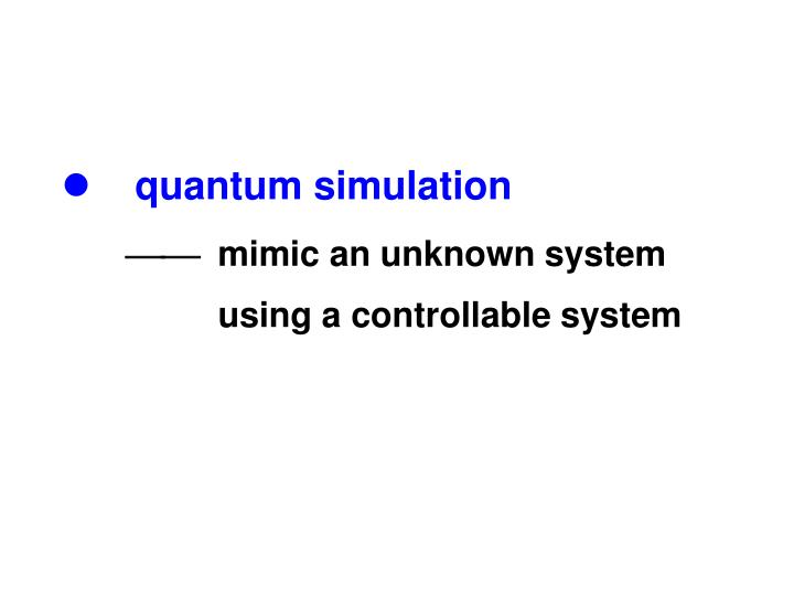 Quantum simulation mimic an unknown system using a controllable system