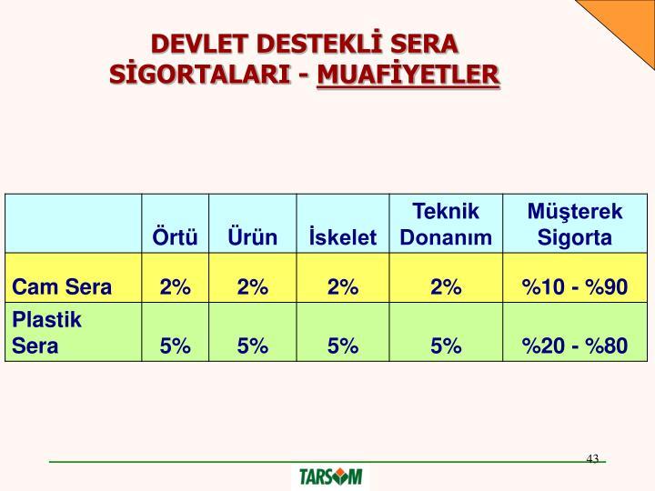 DEVLET DESTEKLİ SERA