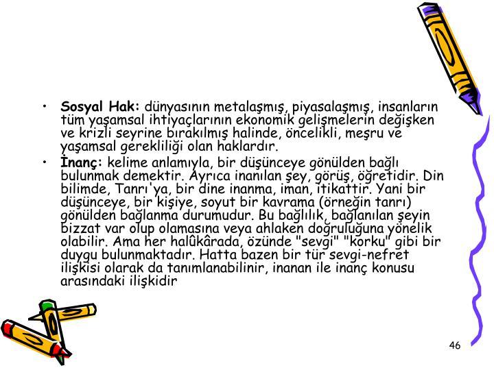 Sosyal Hak: