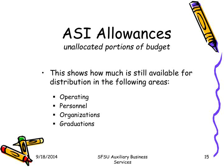 ASI Allowances