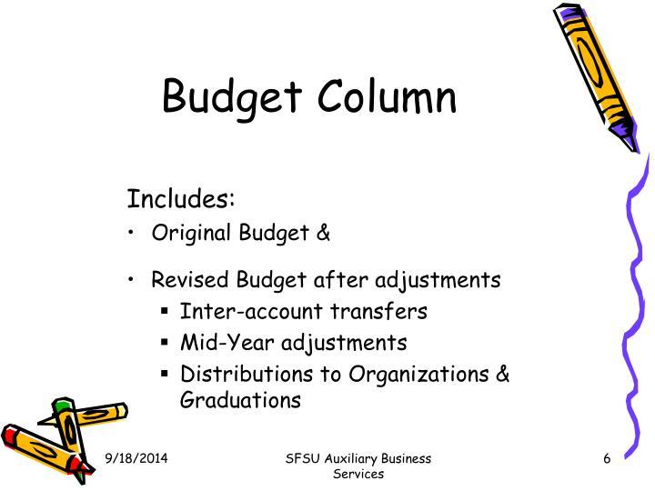 Budget Column