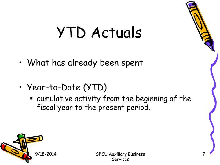 YTD Actuals