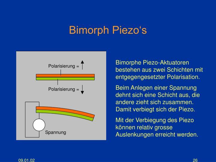 Bimorph Piezo's