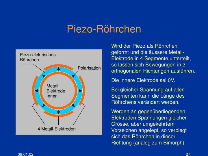 Piezo-Röhrchen