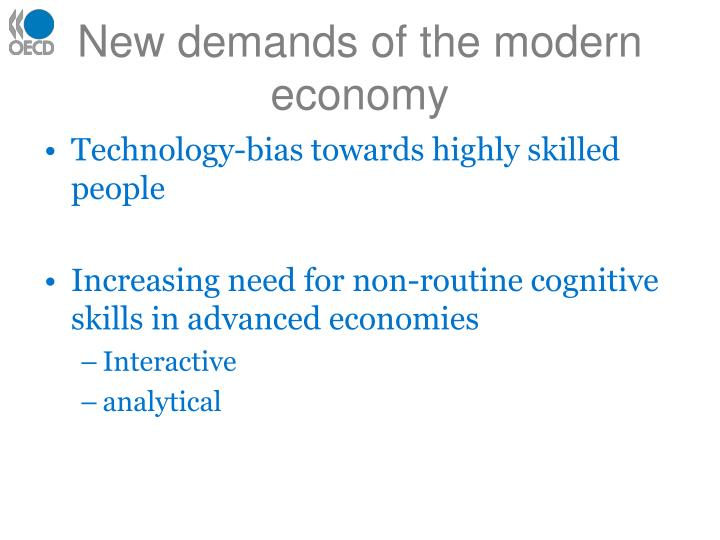 New demands of the modern economy