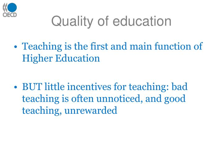 Quality of education