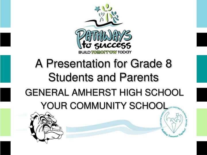 A presentation for grade 8 students and parents