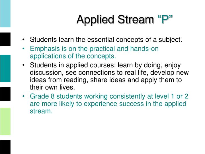Applied Stream