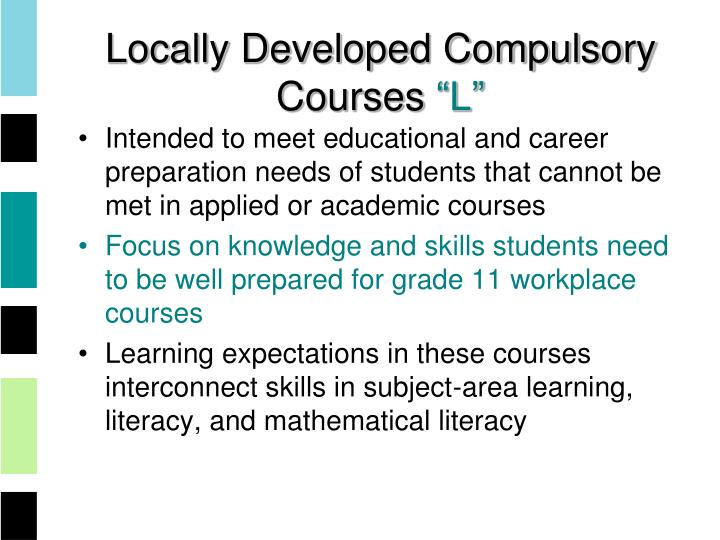 Locally Developed Compulsory Courses