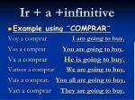 ir a infinitive