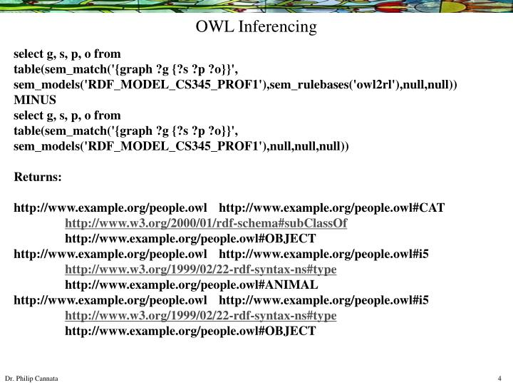 OWL Inferencing