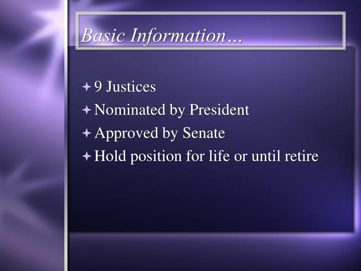 Basic Information…