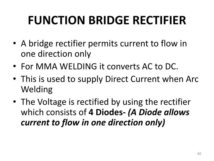FUNCTION BRIDGE RECTIFIER